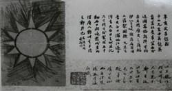 國父親筆手繪的青天白日旗