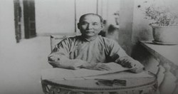 民國7年,國父於上海著述孫文學說時所留影